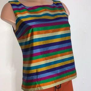 Talbots striped sleeveless blouse